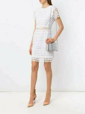 £31 • Buy BNWT MICHAEL KORS White Floral Lace Fully Lined White Dress - UK6-8/US2