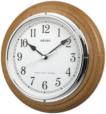 £100 • Buy Deluxe Wooden Radio Controlled Seiko Wall Clock