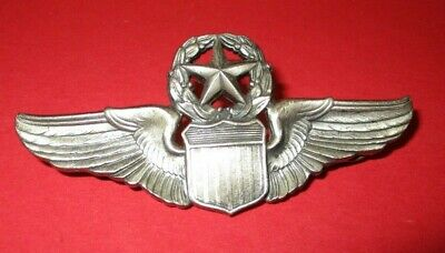 $15 • Buy Vintage Military Pin Silver Wings With Shield With Star On Top Marked L-22