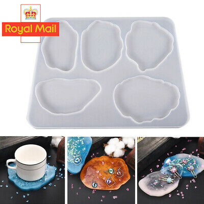 £3.98 • Buy Agate Coaster Resin Casting Mold Silicone Making Epoxy Mould DIY Clay Craft