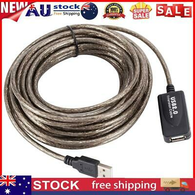 AU20.94 • Buy 33ft USB 2.0 Extension Repeater Cable Signal Booster A Male To A Female