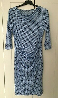 £7 • Buy Blue And White Print Dress Size 14 BNWT