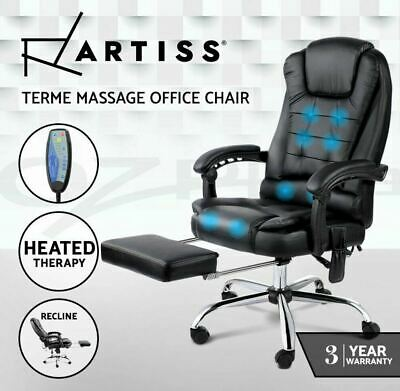 AU199.99 • Buy Artiss 8 Point Massage Office Chair Heated Reclining Gaming Chairs Black