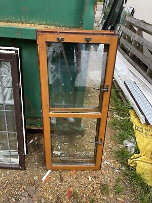 £10 • Buy 2 Reclaimed Wooden Window Timber  Sashes Double Glazed 530mm By 1240mm