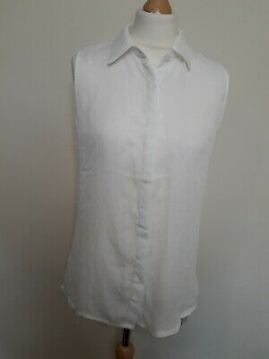 £7 • Buy BNWT Hearts And Bows Size 10 White Sleeveless Button Up Long Shirt Tunic Blouse