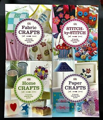 £12 • Buy Bundle 4x Dorling Kindersley Craft Guide Books Sewing Fabric Paper Home
