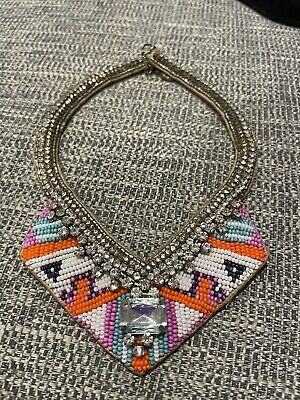 £0.99 • Buy Accessorize Necklace - Aztec Summer Style With Sparkly Jewel Stones