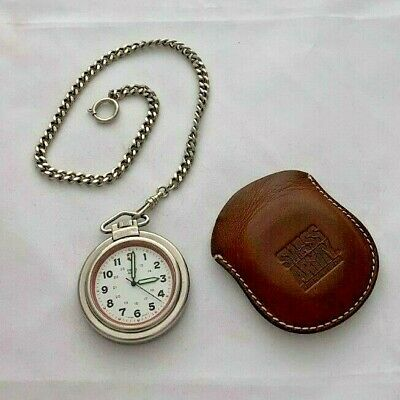 $59 • Buy Swiss Army Pocket Watch, Leather Pouch Working Battery With Pouch