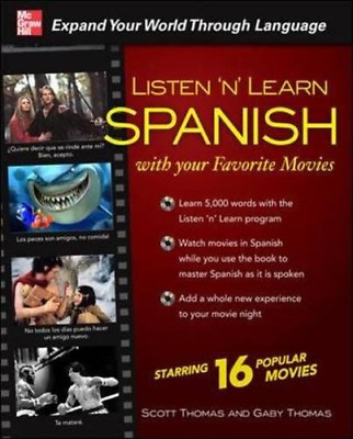 £6.21 • Buy Listen 'n' Learn Spanish With Your Favorite Movies, Thomas, Scott, Thomas, Gaby,