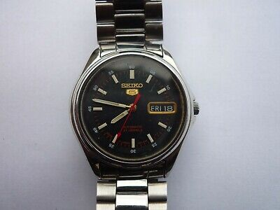 $ CDN23.72 • Buy Seiko 5 Automatic 21Jewels 7S26-OOS2 Day-Date See Through Back Watch Japan