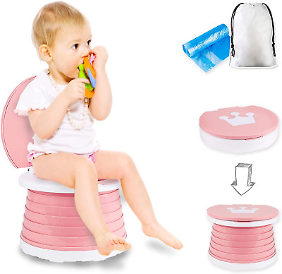 £34.19 • Buy Portable Potty Seat, Kids Folding Training Toilet Chair Travel Potty Indoor With