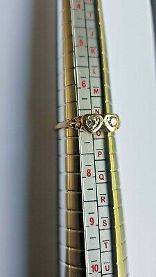 AU220 • Buy 18ct Gold Eternity Ring W/hearts And 2 Brilliant Cut Diamonds