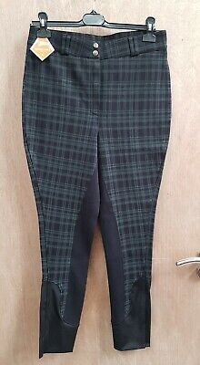 £13 • Buy New ** Harry Hall ** Black Checked Full Seat Breeches Ladies Size 16/32r