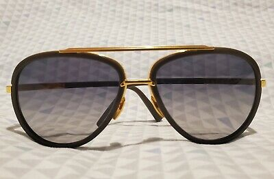 $0.99 • Buy DITA Mach Two Titanium DRX-2031-G-GRY-GLD-60 Authentic Sunglasses Brown / Gold