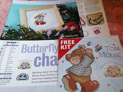 £2.50 • Buy Cross Stitch Chart Country Companions Cute  Tom Mouse Magazine Cover Kit