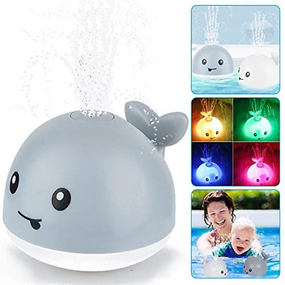 AU17.59 • Buy Baby Bath Toys Whale Water Spray Toy Light Electric Induction Sprinkler Kid Gift