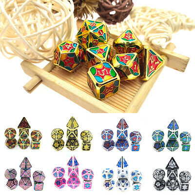 AU29.99 • Buy 7Pcs/Set Metal Polyhedral Dice For DND RPG MTG Dungeons & Dragons Table Game