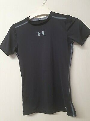 £4.50 • Buy Black Short Sleeved Base Layer Top Age YLG Approx 12-14 Yrs By Under Armour