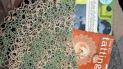 £0.99 • Buy Vintage Tatting Books Full Of Patterns. With Completed Doily