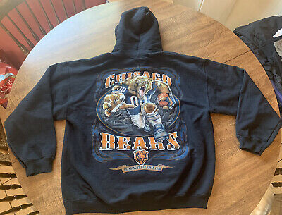 $17.97 • Buy NFL Chicago Bears Double Sided Graphic Hoodie Sweatshirt Men's Size XL.