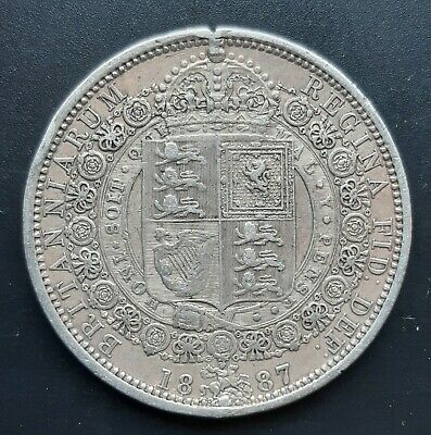 £9.62 • Buy Pre 1920 Sterling (.925) Silver Half Crown Coin. 1887 Victoria. Very Good Detail