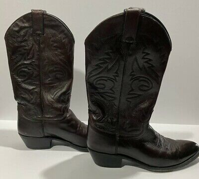 $49.99 • Buy Justin Men's Western Boots Size 9.5 D Dark Brown Leather