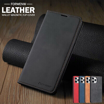 AU13.89 • Buy For IPhone 12 11 Pro Max SE 8 7 Plus XS Magnetic Wallet Case Leather Flip Cover