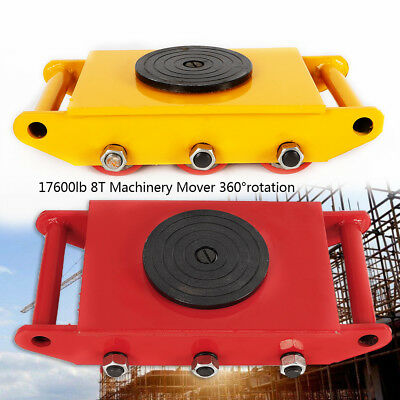 $79 • Buy 8Ton Heavy Duty Machine Dolly Skate Roller Machinery Mover 360° Rotation Cap