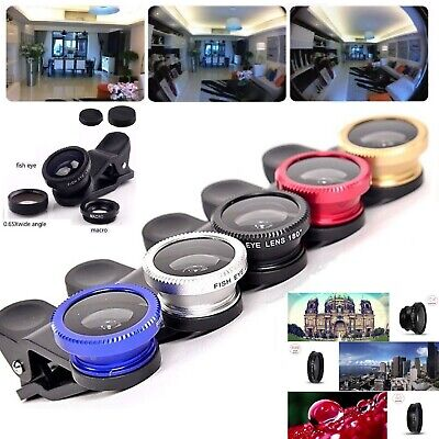 £1.99 • Buy 3 In 1 Mobile Phone Camera Lens Wide Angle Macro Fisheye Clip For Samsung IPhone