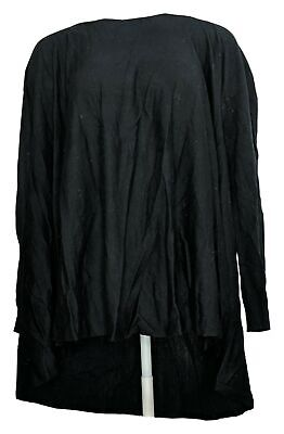 £8.67 • Buy Nicole Richie Collection Top Sz L Convertible Long Sleeve Black A257555