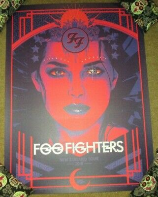 $59.99 • Buy FOO FIGHTERS Concert Gig Poster Print NEW ZEALAND TOUR 2018 Print Vance Kelly