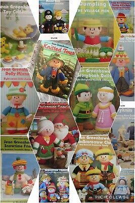 £4.99 • Buy Jean Greenhowe's Knitting Pattern Booklet Clowns Scarecrows Hedgehogs Toys Dolls