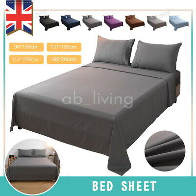 £5.99 • Buy Extra Deep 25cm Fitted Sheet Bed Sheets 100% Poly Cotton Single Double King Size