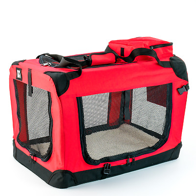 £32.95 • Buy Kct Medium Red Fabric Pet Carrier Bag Portable Foldable Cat Travel Dog Crate
