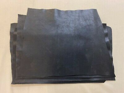 £47.99 • Buy 1.8 - 2mm Thick Dyed Veg Tan Leather Craft - Distressed Black - 3.0-3.5sqft+