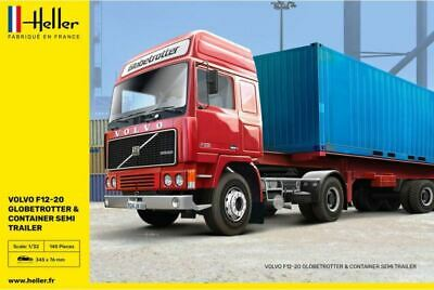 £43.99 • Buy HELLER 81702 Volvo F12-20 With Trailer & Container Load 1:32 Scale Plastic Kit T