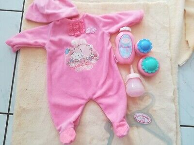 £12 • Buy Baby Annabell Pink Velour All In One Plus Hat Jars And Bottle And Hanger 18in