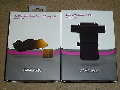 £14 • Buy Microsoft Xbox One Dual Controller Charging Dock Battery Kinect Wall Mount New!