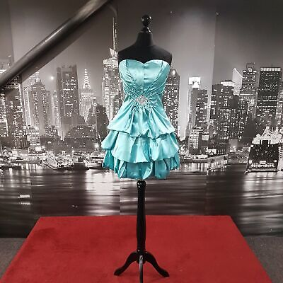 £14.99 • Buy Ladies Dress (Turquoise-Size 8) Prom, Ball, Bridesmaid, Cruise, Cocktail, Weddin