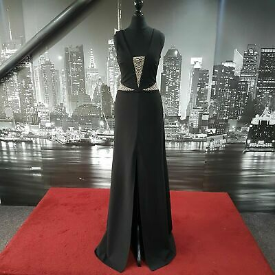 £39.99 • Buy Sequinned Dress (Black-Size 8) Prom, Cruise, Ball, Bridesmaid, Special Event