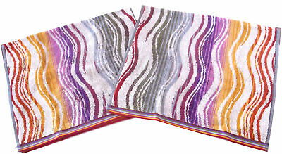 £35 • Buy MISSONI HOME TWO HAND TOWELS COTTON 40x70 Cm PEGGY 159 BRANDED PACKAGING