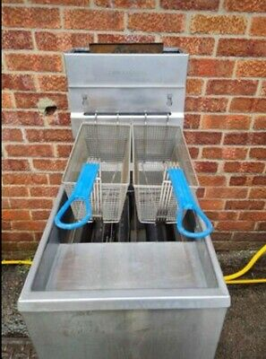 £550 • Buy PITCO Commercial Gas Fryer Floor Standing Single Tank Twin Baskets Chips Chicken