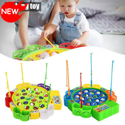 £14.99 • Buy Magnetic Fishing Game Rods & Fish Childrens Kids Magnet Music Rotating Board Toy