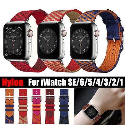 AU13.99 • Buy Nylon Sport Leather Band Strap For Apple Watch Series SE 5 4 3 2 1 44 40 42 38MM
