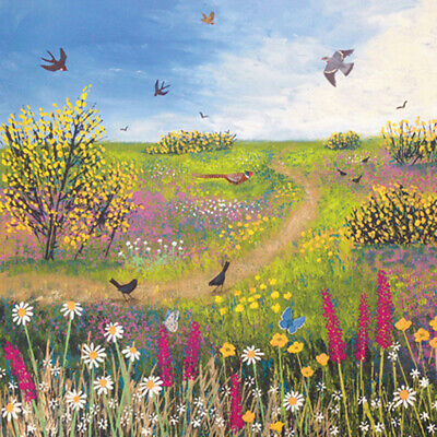 £3.29 • Buy Across The Common Square Blank Greeting Card By Artist Jo Grundy Art Cards