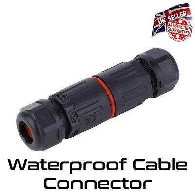 £3.35 • Buy Waterproof Cable Connector Joint Outdoor IP68 Electrical Flex Cable Water Proof