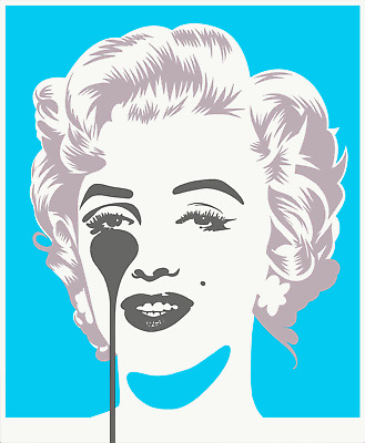 £200 • Buy Pure Evil - Marilyn Classic, Blue And Silver, Limited Edition Art Print