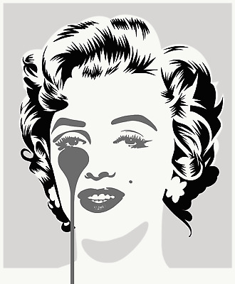 £200 • Buy Pure Evil - Marilyn Classic, Silver And Black - Limited Edition Art Print