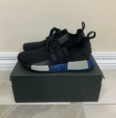 AU129.99 • Buy Adidas NMD R1 Men's Size US9 NEW Blue Black Shoes Sneakers