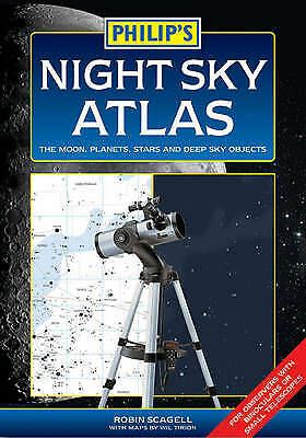 £4 • Buy Philip's Night Sky Atlas: The Moon, Planets, Stars And Deep Sky Objects Scagell,